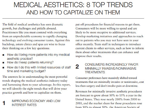 Medical Aesthetics White Paper Writing Sample
